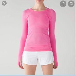 Lululemon bubble gum pink swiftly tech long sleeve